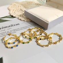 Серьги кольца для женщин Новая мода золотой цвет Роскошный Королевский