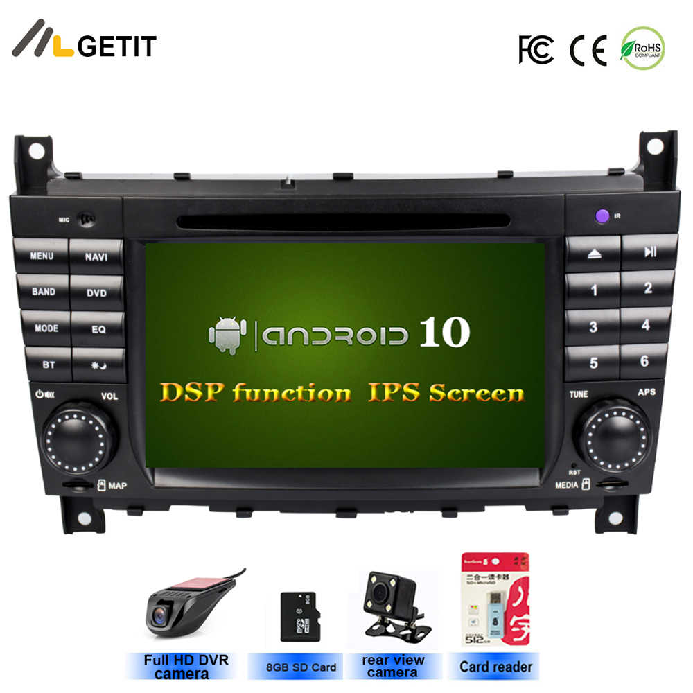 DSP IPS Android 10 Car Stereo Radio per Mercedes/Benz W203 W209 C180 C200 C220 C230 C240 C250,8 ''GPS Unità di Testa Auto Lettore