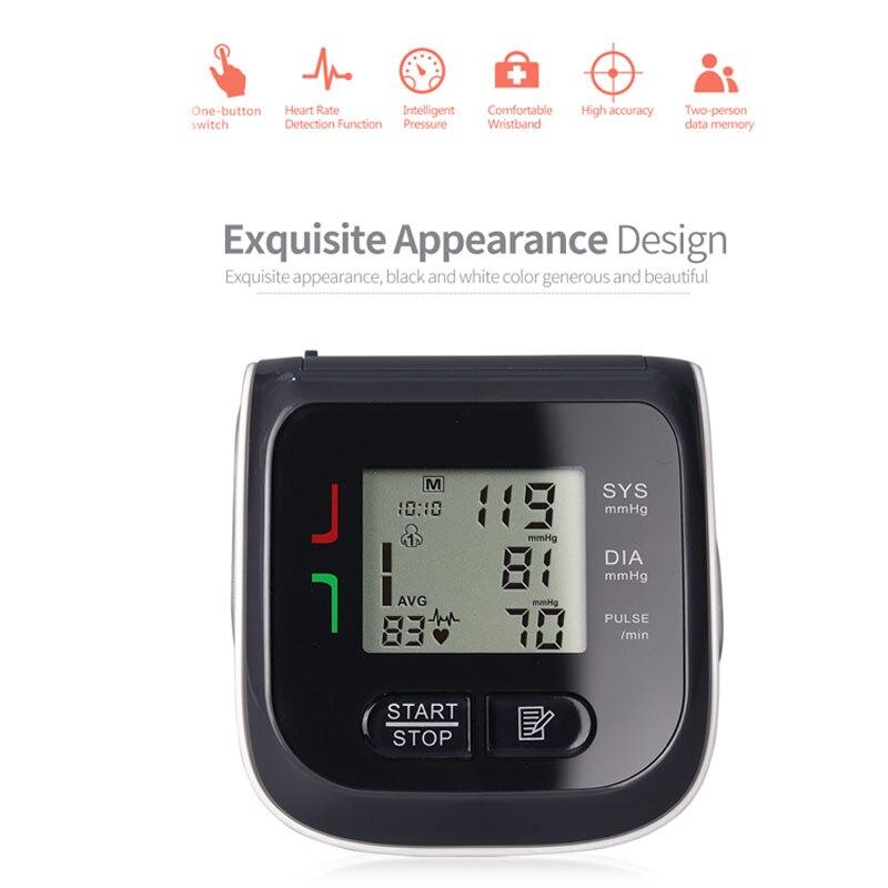 New Medical Equipment Wrist Blood Pressure Monitor Tonometer Family Health Machine Apparatus Electronic Wrist Blood Pressure 1