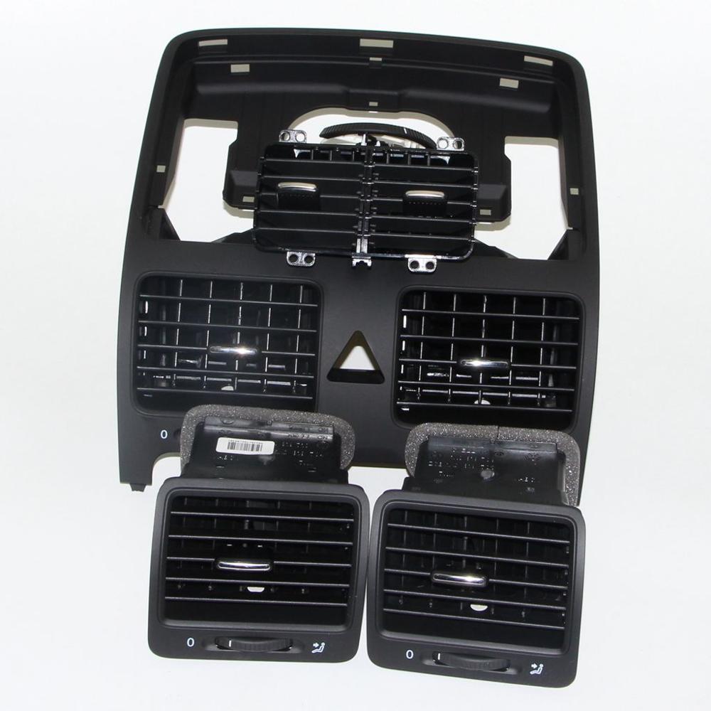 Auto Zentrum Klimaanlage Outlet Vent Düse Set Für VW Jetta 5 Golf MKV Kaninchen 1KD 819 728 1KD 819 203 1KD 819 703 1KD 819 704