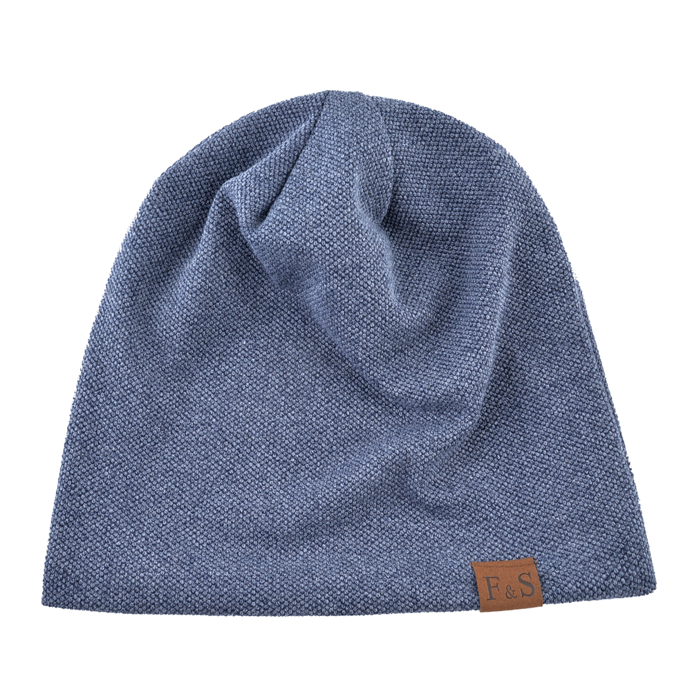 Knitted wool hats For men winter beanies double layer Turban hat Casual Unisex Hip Hop caps