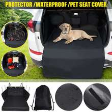 New Waterproof Dog Car Trunk Mat Hammock Boot Pet Seat Cover Barrier Protect Floor Non slip Foldable Dirt Resistant Rear Seat