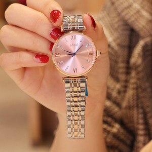 Модные Роскошные Брендовые Часы для женщин, женские часы, водонепроницаемые, со звездами, с круглым циферблатом, подарки на запястье, не лин...