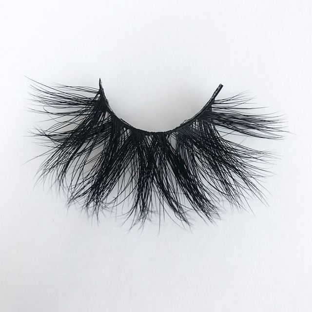 3D MIKIWI real mink lash 25mm E01 extra length and fluffy luxury mink eyelashes natural thick Eye lashes wispy makeup extention 2