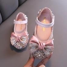 Dance Shoes Flats Performance-Shoes Rhinestone Party Girls Baby Princess Kids Children