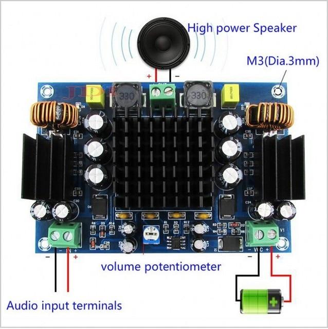 150 w tpa3116d2 mono canal placa amplificador de áudio potência digital duplo sistema reforço para o carro