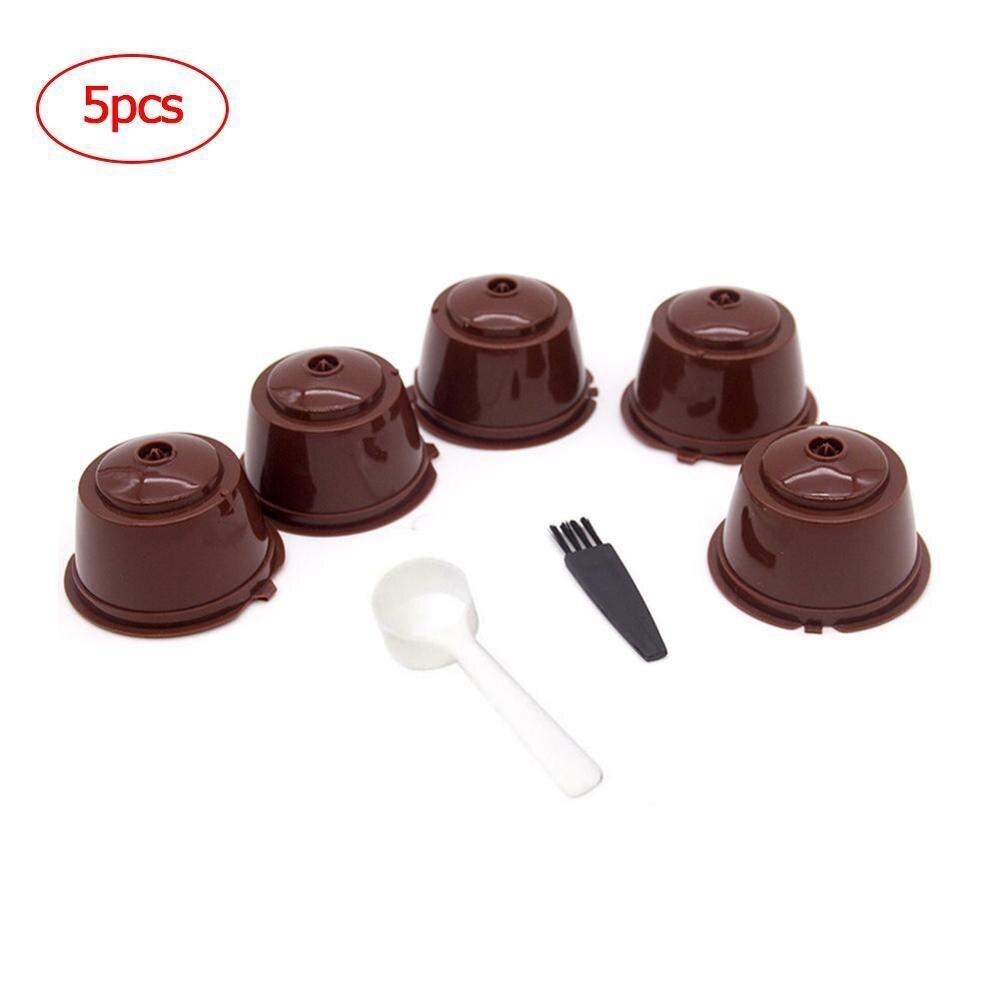 5 шт., новые капсулы для кофе, фильтр-чашка, многоразовые, многоразовые, Dolci Gusto, корзины для кофе, оптовая продажа