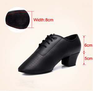 Image 3 - Latin Dance Shoes For Women International Modern Dance Shoes Ladies Leather Ballroom Waltz Tango Foxtrot Quick Step Shoes