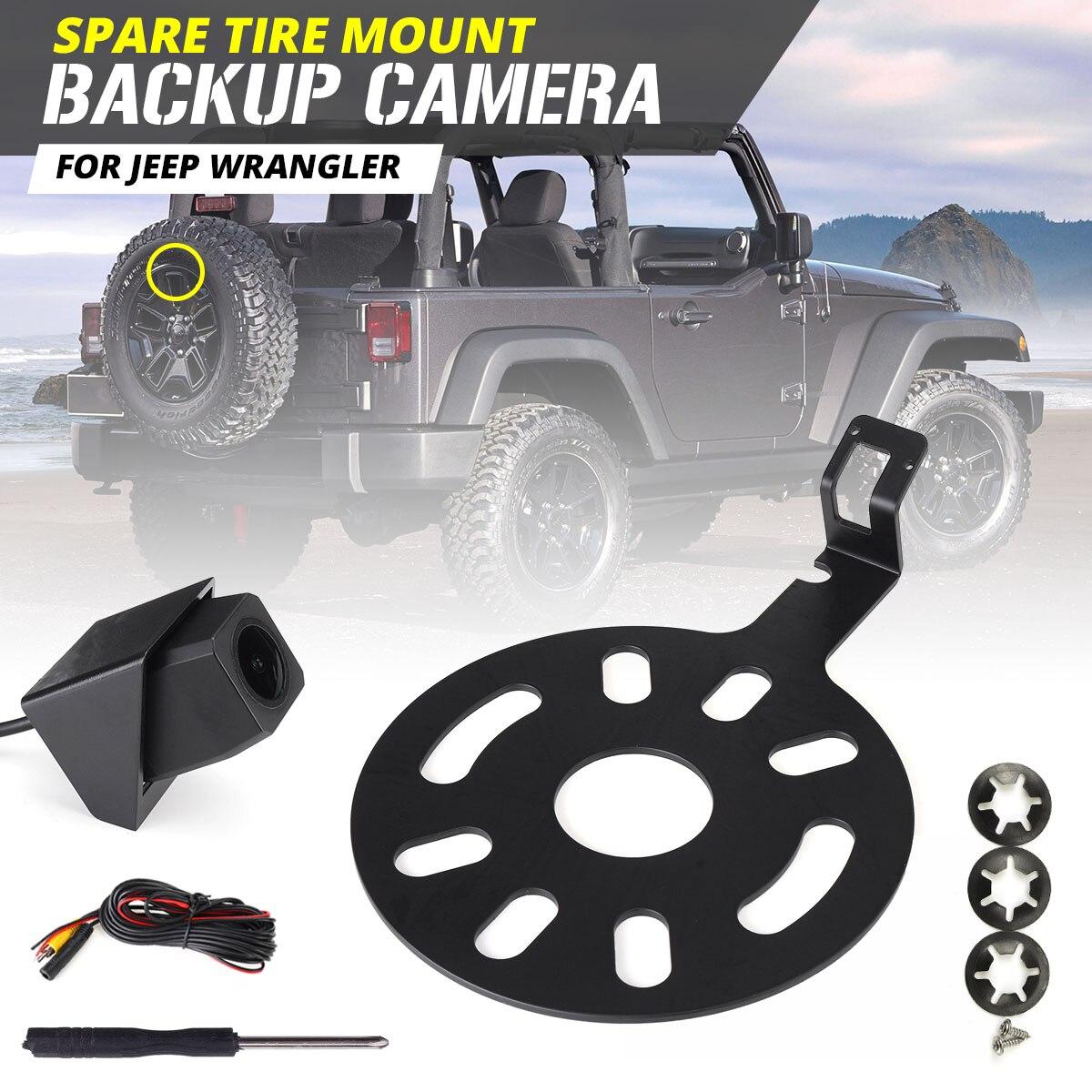 Новая Автомобильная камера заднего вида IP67 водонепроницаемая запасная камера + OEM радио видео жгут для Jeep для Wrangler