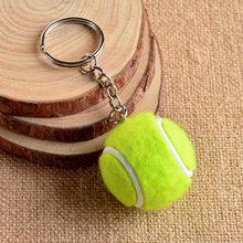 Chaveiro de metal com corrente, 6 cores, tênis, bola de metal, chaveiro, corrente esportiva, pingente de cor, venda quente #17112