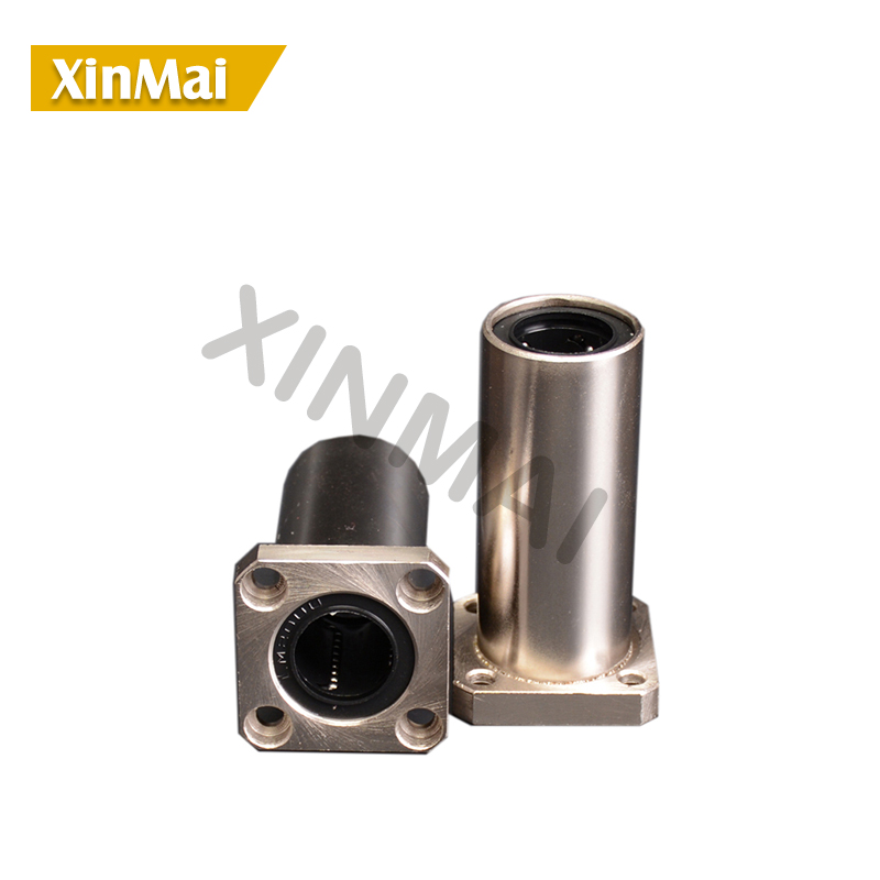 2pcs lot LMK13LUU LMK16LUU LMK20LUU LMK25LUU square flange linear bearing 20mm square flange linear motion bearing cnc parts in Bearings from Home Improvement