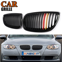 цена на MagicKit 1pair Grille For BMW 3 series E92 E93 06-10 2 doors gloss black M Color Car Wide Kidney Grille Racing Grill Car-styling