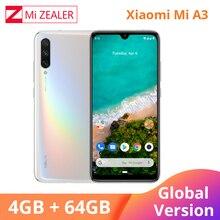 """2019 ใหม่ทั่วโลกรุ่น Xiao Mi Mi A3 4GB 64GB สมาร์ทโฟน 4030mAh 6.088 """"Snapdragon 665 Octa core หน้าจอ AMOLED Xio Mi โทรศัพท์มือถือ"""