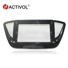 HACTIVOL 2 Din Car Radio face plate Frame for Hyundai Verna 2016 black Car DVD Player gps navi panel dash mount kit car products hactivol 2 din car radio face plate frame for kia sportage r 2016 kx5 car dvd gps navi player panel dash mount kit car products