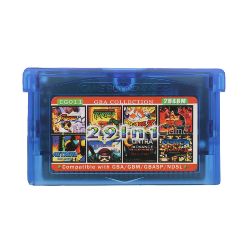 For Nintendo GBA Video Game Cartridge Console Card Collection English Language EG011 29 In 1