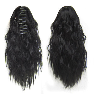 Claw Jaw Ponytail Extension Long Kinky Curly Synthetic Hair Ponytails Extensions for Black Women