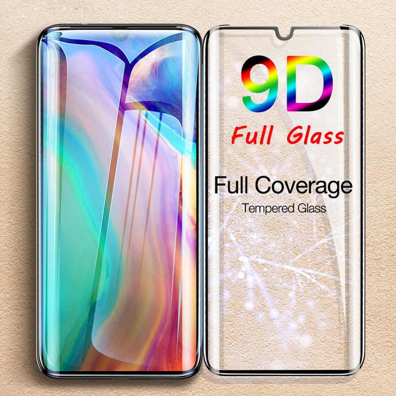 Vidrio Templado pegamento 9D para Huawei P30 Lite P Smart 2019 Protector de pantalla para Huawei P20 Pro vidrio Protector en Mate 20 10 Lite