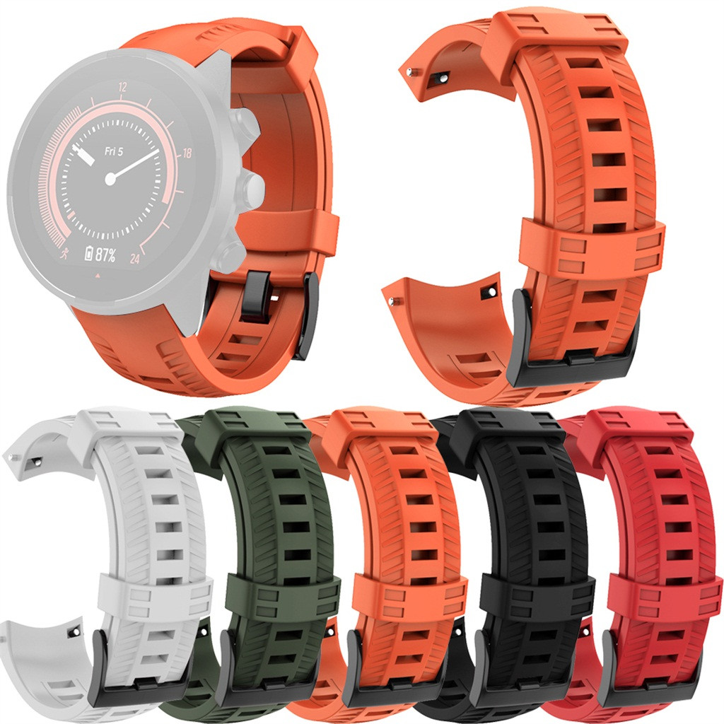 Sports Silicone Replacement Wristband Band Strap For SUUNTO 9/ Baro Smart Watch Bracelet Strap Watch Wrist Belt 5 Colors 19Nov06