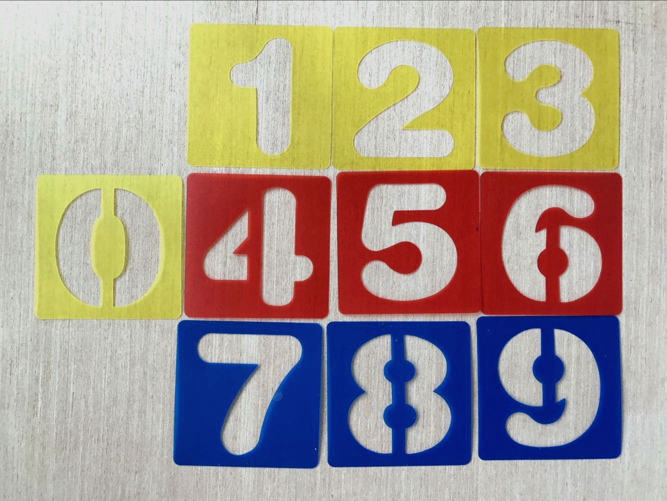 Amazon Hot Selling Hollow Out With Numbers Board Children Learning Tool Graffiti Painted Template Templates Ruler