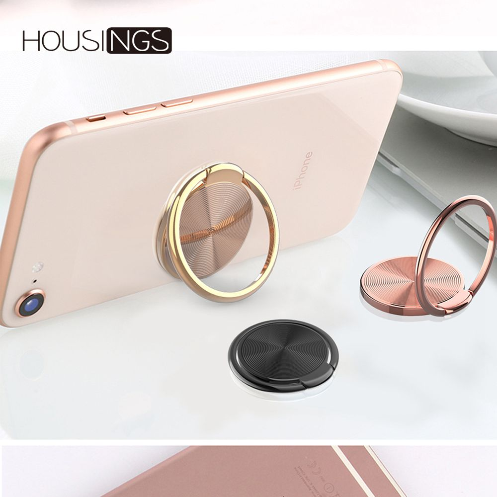 <font><b>360</b></font> Rotating <font><b>Finger</b></font> <font><b>Ring</b></font> <font><b>Holder</b></font> Universal Phone Stand Grip For iPhone 7 Plus Mount Tablet Stand Smart Cell Phone Buckle Bracket image