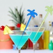 Muddler Drink Stirrer Swizzle-Sticks Coffee Cocktail Bar-Tools Coconut-Tree NEW 50pcs