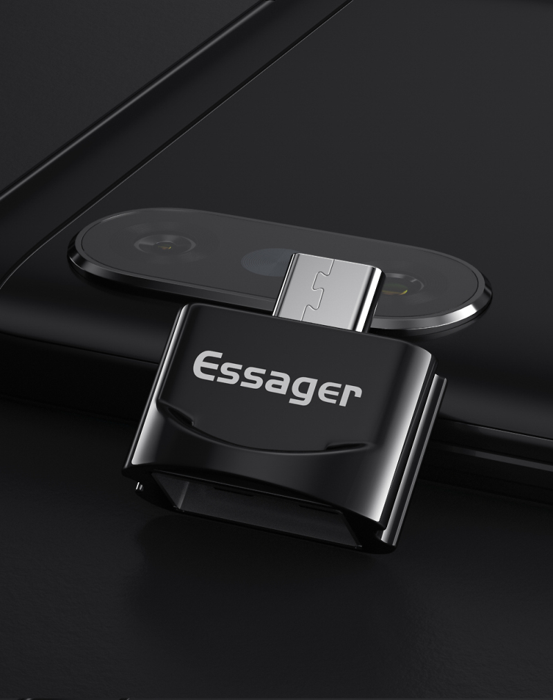 ESSAGER USB Type C OTG Adapter USBC Type-c Converter For Huawei Mate 30 P30 Samsung S10 Note 10Pro Xiaomi Mi 8  USB-C Connector