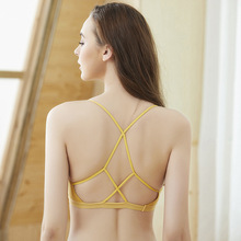 Sexy Backless Bralette Lace Wireless Women's Bra Rib Brassiere Femme Padded Push Up Bralette Comfort Rare Back Bra BH