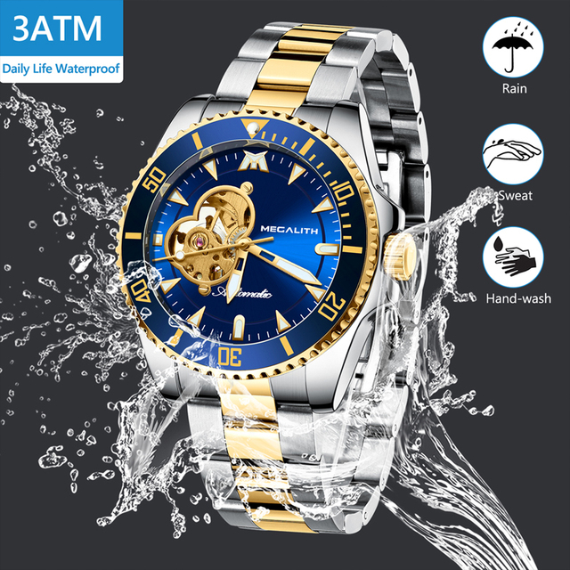 Luxury Watch Men's automatic mechanical Watches 30M Waterproof Lumninous Clock