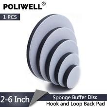 POLIWELL 1 قطعة 2 بوصة 3 بوصة 4 بوصة 5 بوصة 6 بوصة هوك و حلقة العودة إسفنجة لينة عازلة القرص ل جهاز لسنفرة الخشب احتياطية سادة الرملي منصات