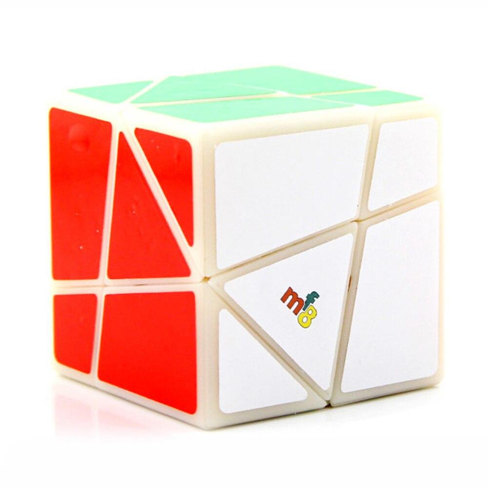 White Corner Cut Odd Shape 3x3 3x3x3 Magic Gem Cube Twist Puzzle Toy By Lanlan