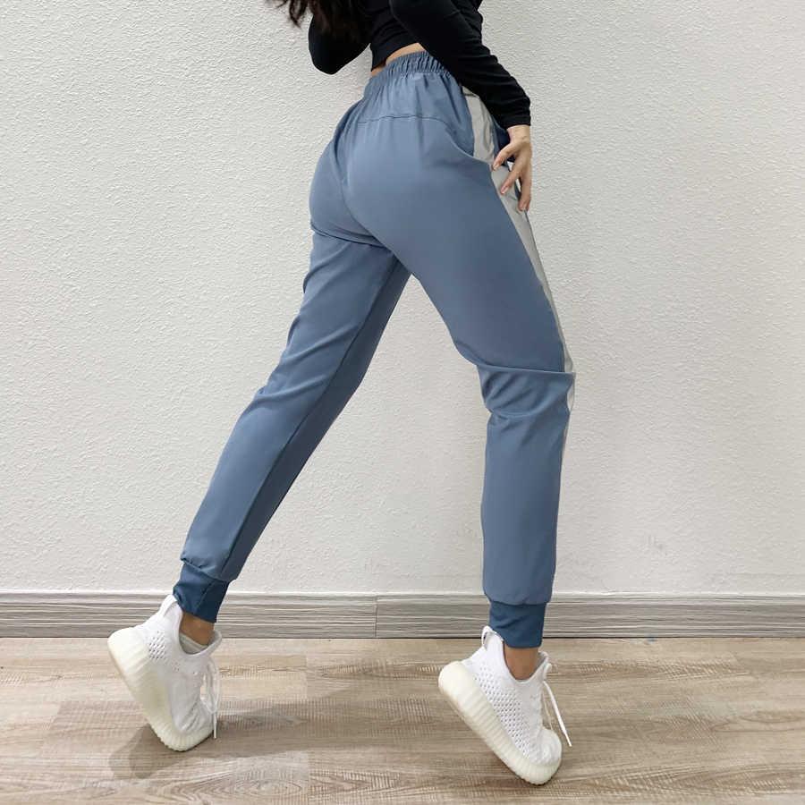Pantalones Deportivos Para Mujeres Rayas Sueltas Para Mujer Pantalones De Patchwork De Haren Pantalones Deportivos De Cintura Elastica Casual Absolute Ropa Mujer