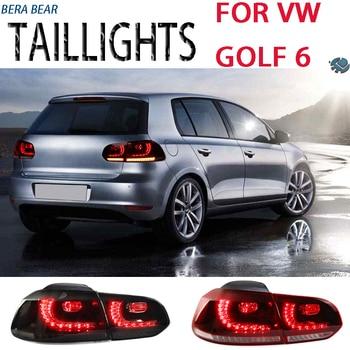 BERA Bear Car Styling luces LED traseras para Volkswagen Golf 6 lámpara trasera 2008-2013 Luz LED DRL + freno + respaldo + señal de giro + lámpara antiniebla