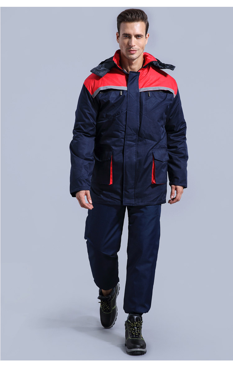 Winter Working Clothing Men Cold Storage Overalls Thick Warm Clothing Bib Cotton Suit Set Split Protective Safety Clothing (4)