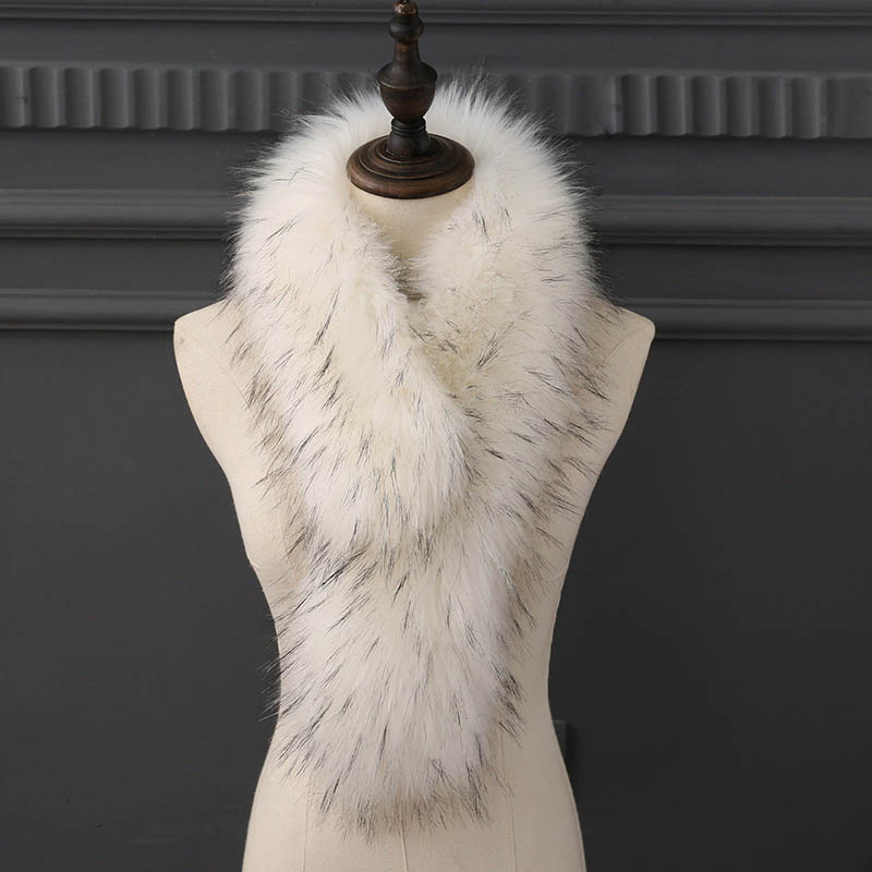 Fur Imitation Fur Fox Fur Scarf, Hair Collar, Shawl, Female Long, Thick And Warm Scarf.Imitation Raccoon Scarf