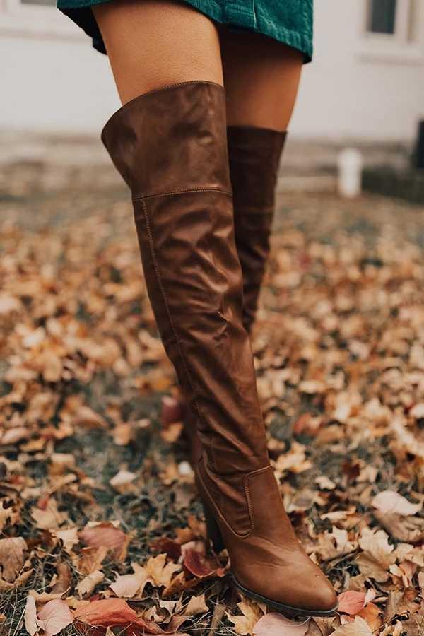 Puimentiua fermuar çizmeler kadın diz-yüksek çizmeler rahat moda tıknaz topuk sıcak çizmeler kadın sonbahar kış ayakkabı Bota Feminina