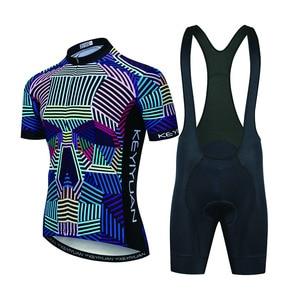 Image 3 - Keyiyuan半袖自転車服の夏のスタイルプロmtbジャージシャツ