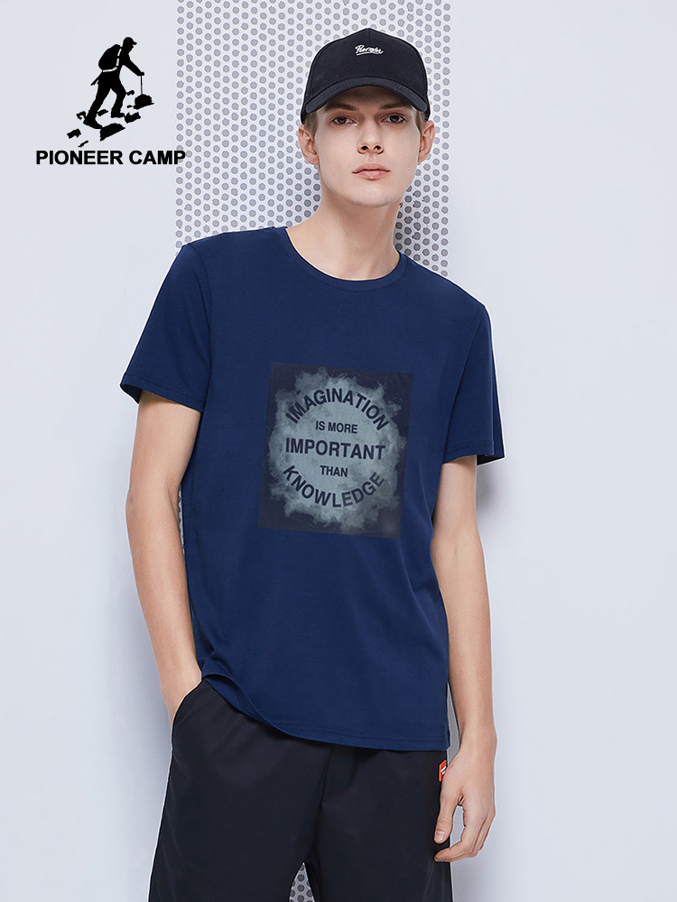 Pioneer Camp 2020 Hip Hop T-shirts Men 100% Cotton Letter Printed Streetwear Fashion Summer Mens Clothing ADT0202093