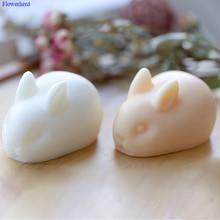 Chocolate Mold Bunny Soap-Making-Supplies Cake-Decor Handmade Soap Cavities Silicone