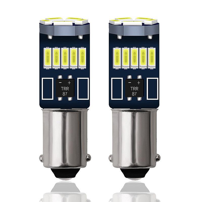 2x Car Light BA9S T2W T3W H5W T4W LED Bulb Interior License Plate Light 2 LEDs 2835 SMD 12913 12910 12929