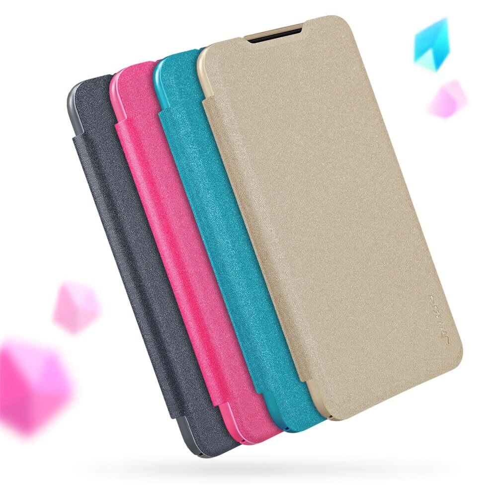 Nillkin couleur bonbon mince plaine étincelle en cuir étui à rabat pour Xiao mi rouge mi Note 8 Pro K20 Note 7 mi A3 CC9 9 Explorer Play