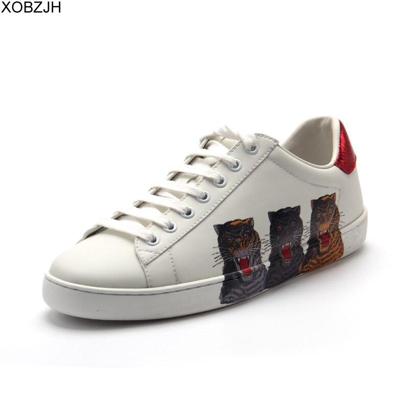 Chaussures de designer décontractées homme baskets de luxe hommes et femmes de haute qualité 2019 marque en cuir véritable mode sans lacet chaussure blanche pour hommes