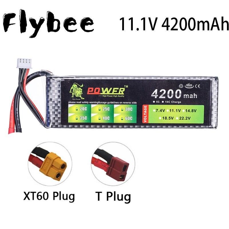 11,1 V 4200 мА/ч, 30C T/XT-60 Разъем дистанционного controul модель самолета литиевая полимерная батарея 11,1 V литий-полимерный аккумулятор RC автомобиль иг...