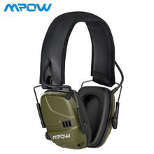 Mpow HP094 Noise Reduction Ear Muffs NRR 22dB Hearing Protection 30hrs Playing Time With Rechargeable Battery For Hunt Shoot Mow