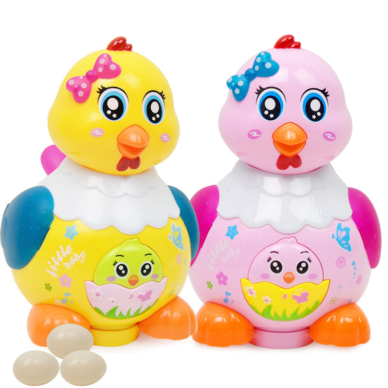 Lay Eggs Little Hen Electric Toy With Light And Music Electric Laying Hens Under Born Laying Hens Children's Toy