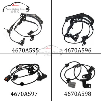 4pcs/set 4670A595 4670A596 4670A597 4670A598 Front Rear Left Right ABS Wheel Speed Sensor for Mitsubishi L200 Triton 2012-2015 image
