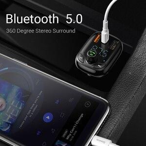 Image 3 - Baseus Carregador rápido veicular 4.0, transmissor FM Bluetooth mãos livres FM Modulador PD 3.0 Carregador de carro USB rápido para iPhone