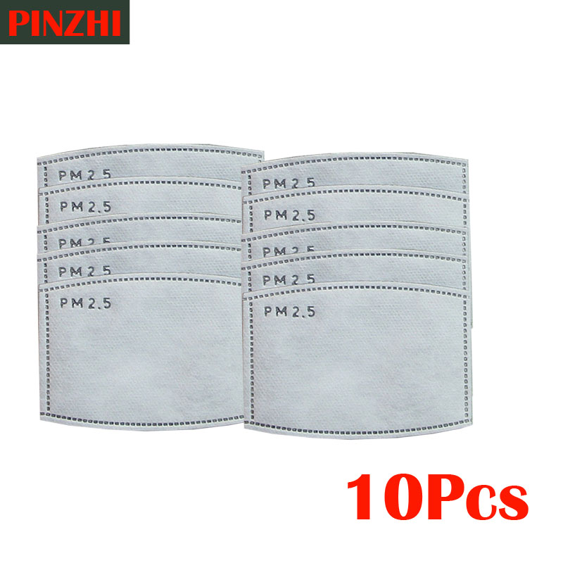 Health Care Mask Filter 10pcs/Lot PM25 Filter Paper Anti Haze Mouth Mask Anti Dust Mask Filter Paper