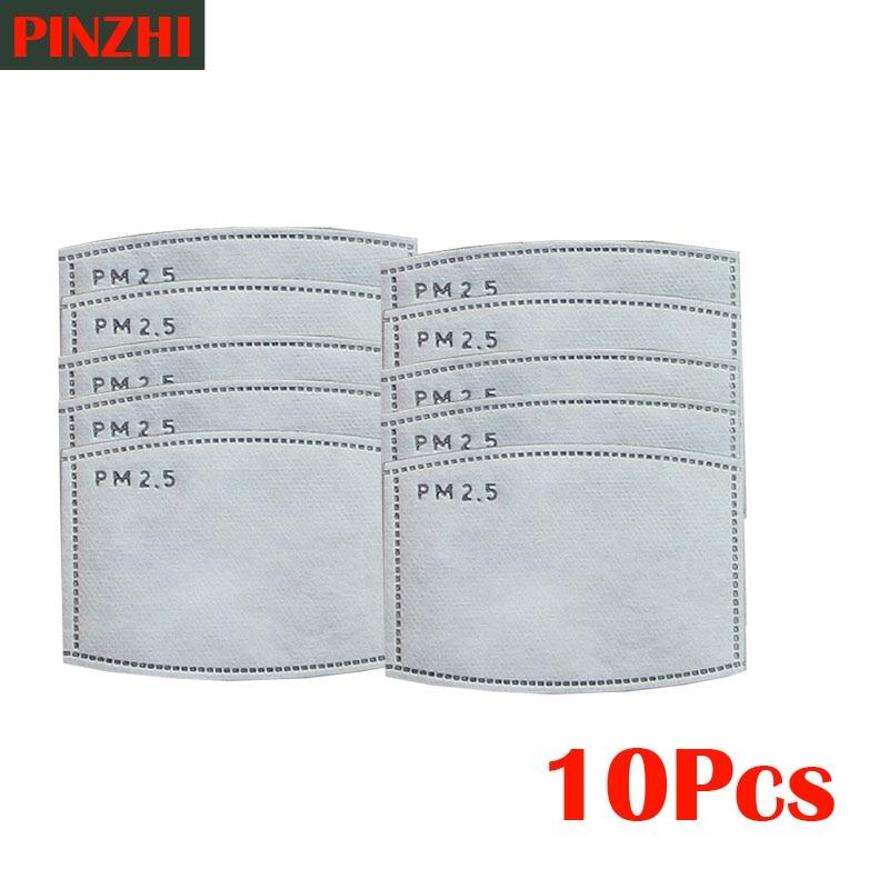 Health Care Mask Filter 10pcs/Lot PM25 Filter Paper Anti Haze Mouth Mask Anti Dust Mask Filter Paper