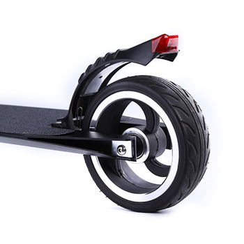 5.5 Inch Practical Foot Brake Safe Electric Protective Carbon Fiber With Tail Light Rear Universal Scooter  Easy Install