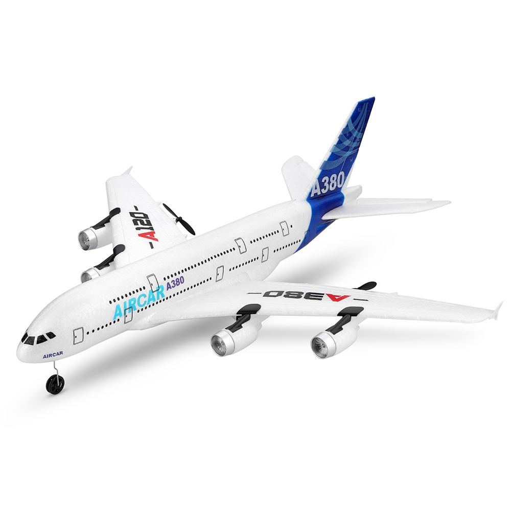 RC Plane Toy Airbus A380 Airplane Toys 2.4G 3CH Electric Outdoor Radio Remote Control Fixed Wing Airplane Model for Boys Gifts image